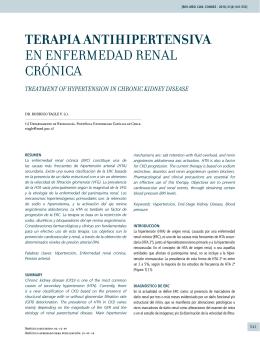 terapia antihipertensiva enenfermedad renal crónica
