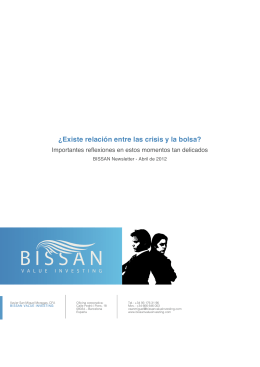 BISSAN Newsletter - Existe relación