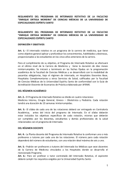 reglamento del programa de internado rotativo de la facultad