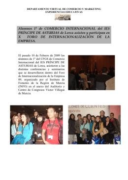 Alumnos 1º de COMERCIO INTERNACIONAL del IES PRÍNCIPE DE