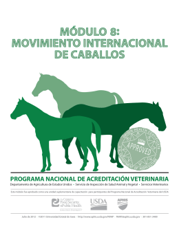 movimiento internacional de caballos