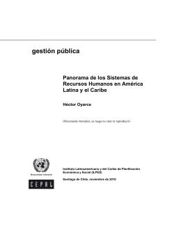gestión pública - Comisión Económica para América Latina y el
