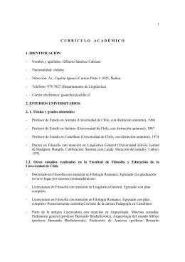 Curriculo completo profesor Gilberto Sánchez