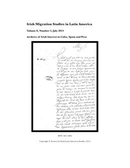 Volume 8, Number 3 - Society for Irish Latin American Studies