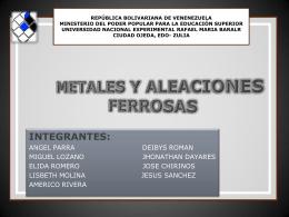 Metales y Aleaciones ferrosas (Estudiantes)
