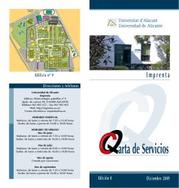 arta de Servicios - Imprenta de la Universidad de Alicante