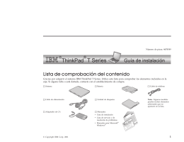 Gracias por adquirir el sistema IBM ThinkPad T Series. Utilice esta