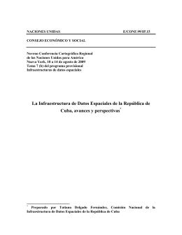 La Infraestructura de Datos Espaciales de la República de Cuba