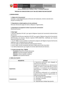 cas 064-2013-mincetur/vmt/dgjcmt - Ministerio de Comercio Exterior