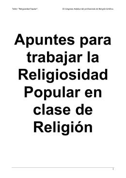 """Taller: """"Religiosidad Popular"""". II Congreso Andaluz del profesorado"""