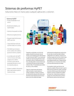 Sistemas de preformas HyPET - Husky Injection Molding Systems