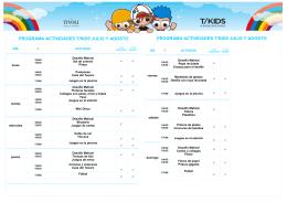 programa actividades t/kids julio y agosto