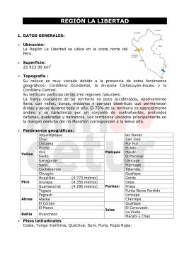 REGION LA LIBERTAD - Ministerio de Comercio Exterior y Turismo