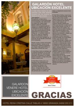 GALARDÓN HOTEL UBICACIÓN EXCELENTE