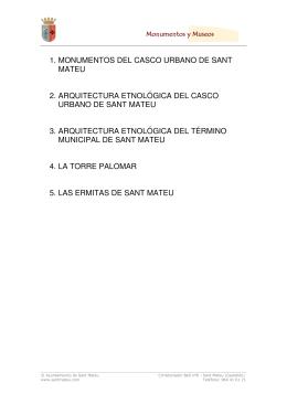Monumentos PDF - Ayuntamiento Sant Mateu