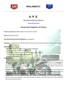 Reglamento - Enduro APE