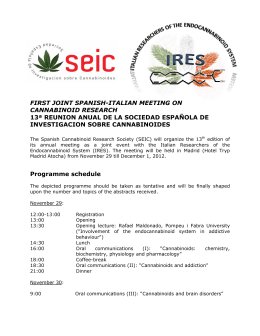 first joint spanish-italian meeting on cannabinoid research 13ª