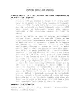 HISTORIA GENERAL DEL VOLEIBOL (García