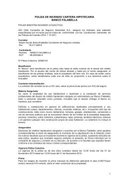 1 POLIZA DE INCENDIO CARTERA HIPOTECARIA BANCO