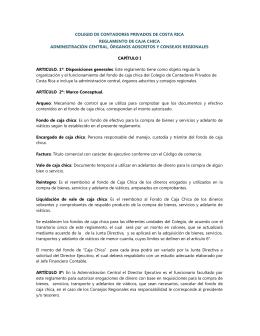 reglamento de caja chica - Colegio de Contadores Privados de