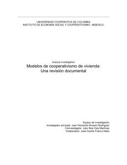 EL COOPERATIVISMO DE VIVIENDA
