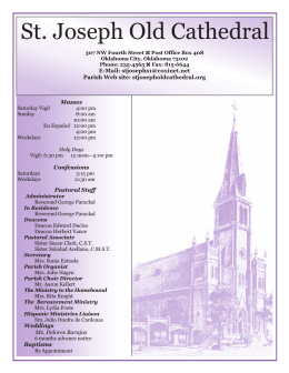 Masses for the Week - St. Joseph Old Cathedral