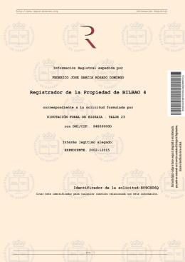 Registrador de la Propiedad de BILBAO 4