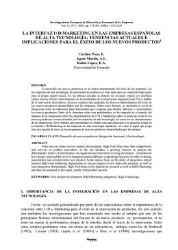 la interfaz i+d/marketing en las empresas españolas de alta