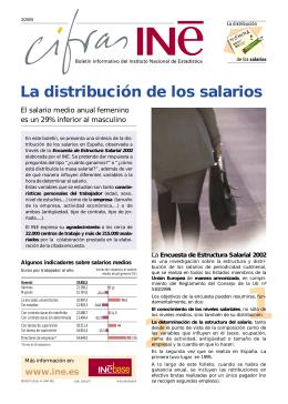 La distribución de los salarios - Instituto Nacional de Estadística