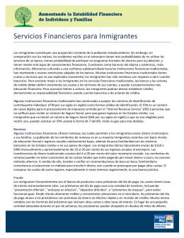 Servicios Financieros para Inmigrantes