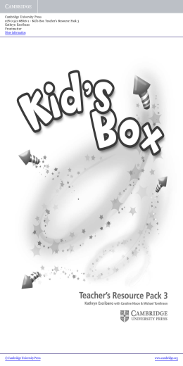 Kid`s Box Teacher`s Resource