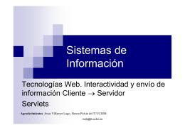 Tecnologías Web: servlets