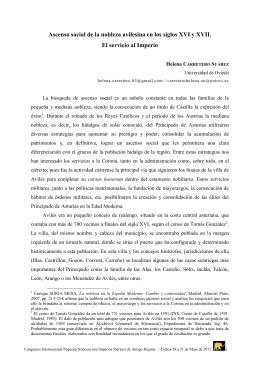 Ascenso social de la nobleza avilesina en los siglos XVI y XVII