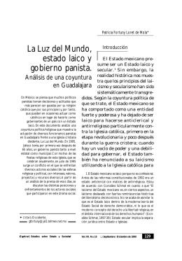 La Luz del Mundo, estado laico y gobierno panista.