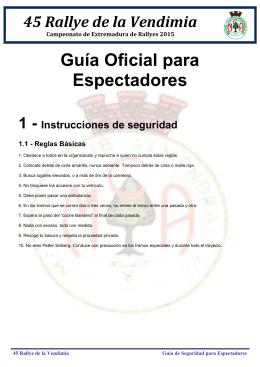Guía Oficial para Espectadores