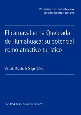 El carnaval en la Quebrada de Humahuaca: su potencial como