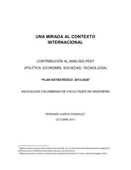 UNA MIRADA AL CONTEXTO INTERNACIONAL