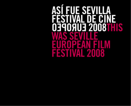 2008 - Festival de Cine Europeo
