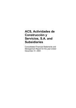 ACS, Actividades de Construcción y Servicios, SA and