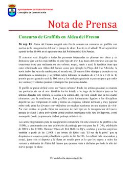 Nota de prensa, Concurso de graffitis