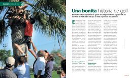 Una bonita historia de golf - Real Federación Española de Golf