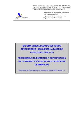 Manual sobre procedimiento y presentación telemática de órdenes
