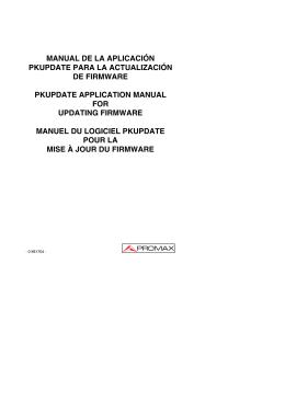 Actualización de firmware / Updating firmware / Mise à jour
