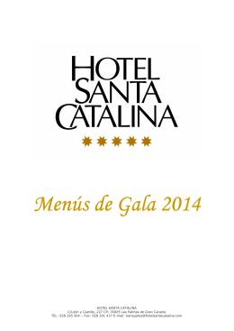 Menús de Gala ús de Gala ús de Gala 2014