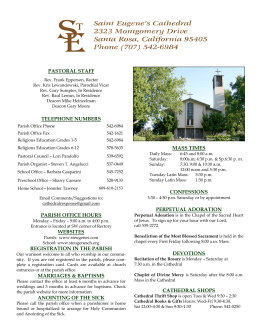 pastoral staff telephone numbers parish office hours