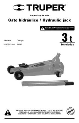 Gato hidráulico / Hydraulic jack