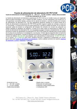 Fuente de alimentación de laboratorio DC PKT