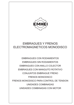 Embragues y frenos electromagneticos monodisco