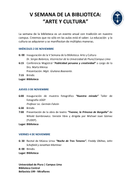 Consulte Programa - Biblioteca Central