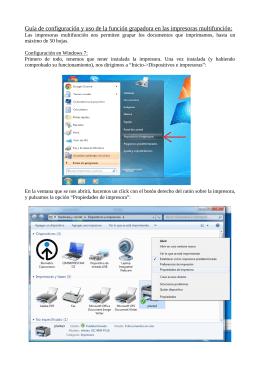 Guía de configuración y uso de la función grapadora en las
